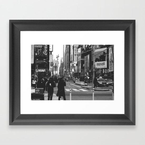Let my imagination go (B&W) Framed Art Print