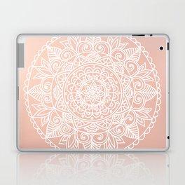 White Mandala on Rose Gold Laptop & iPad Skin