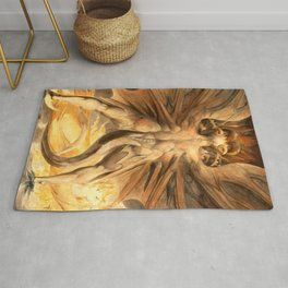 """William Blake """"The Great Red Dragon and the Woman Clothed in Sun"""" Rug"""