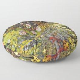 Edouard Vuillard - Garden Of Vaucresson - Digital Remastered Edition Floor Pillow