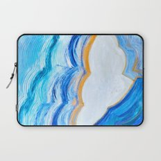 Blue and gold agate Laptop Sleeve