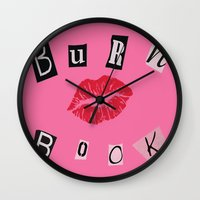 book cover Wall Clocks featuring The Burn Book Cover by Renatta Maniski-Luke
