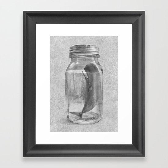Extinction - mono Framed Art Print