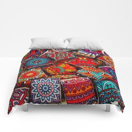 V1 Traditional Moroccan Colored Stones. Comforters