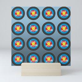 Shooting gallery - Love inside yellow, red, blue, black target Mini Art Print
