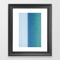 ocean vertical Framed Art Print