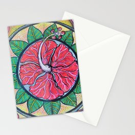 Mandala ibiscus love Stationery Cards