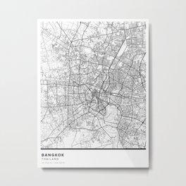 Bangkok Simple Map Metal Print