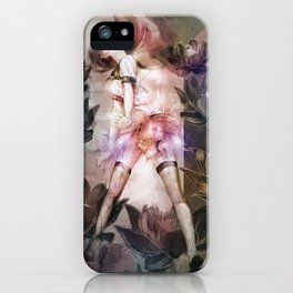 NP dot TOKYO | Lotus flowers and girl iPhone Case