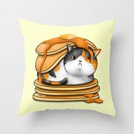 Kitty Pancakes Throw Pillow