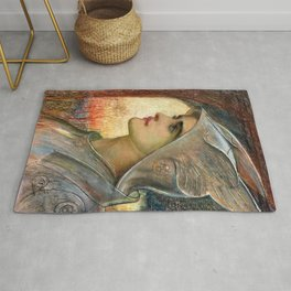 "Sir William Blake Richmond ""St Joan of Arc"" Rug"
