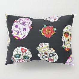 Sugar Skull Pattern Pillow Sham