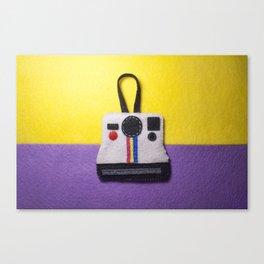 Felt Polaroid Canvas Print