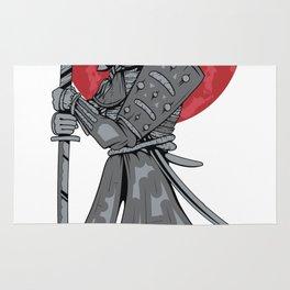 Japanese Samurai Warrior Rug