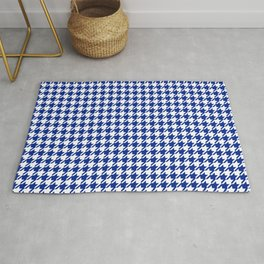 Houndstooth Classic Blue Rug