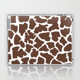 Animal Print (Giraffe Pattern) - Brown White Laptop & iPad Skin