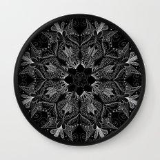 Black Mandala 2 Wall Clock