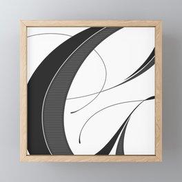 Letter G - Script Lettering Cropped Design Framed Mini Art Print