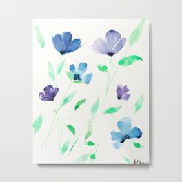 Violet & Vines Metal Print