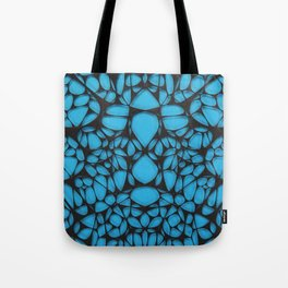 Black on blue, organic abstraction Tote Bag
