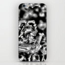 Dark side of snowflakes iPhone Skin