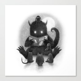 Story Time (black and white option) Canvas Print