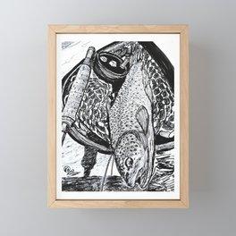 """Catch & Release"" Trout Fly Fishing Art Framed Mini Art Print"