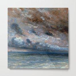 """John Constable """"Stormy Sea, Brighton"""" Metal Print"""