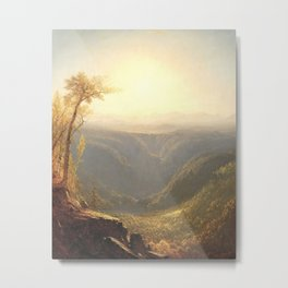A Gorge in the Mountains by Sanford Robinson Gifford 1862 Metal Print