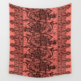 Vintage Lace Peach Echo Wall Tapestry