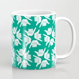 Teal Shakas Coffee Mug