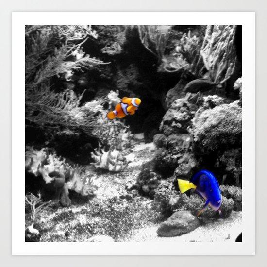 Nemo and Dora Art Print