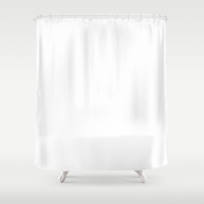 Stark White : Solid Color Shower Curtain