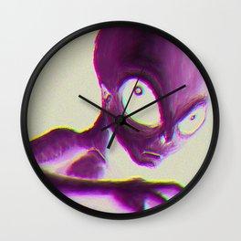 Alien Encounter Wall Clock