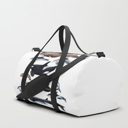 Atlantic whales, dolphins and orca Duffle Bag