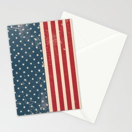 Vintage Distressed American Flag Stationery Cards