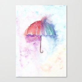 Loose Watercolor Umbrella Canvas Print