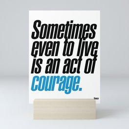 seneca quote, typography art Mini Art Print