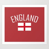 england Art Prints featuring England by Earl of Grey