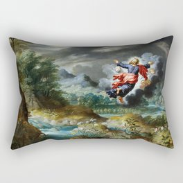 God creating the Sun, the Moon and the Stars Rectangular Pillow