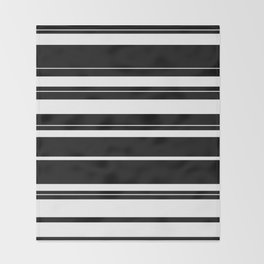 Black And White Stripes Throw Blanket