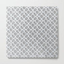 Grey Geometric Metal Print