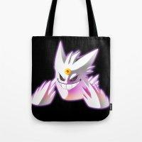 gengar Tote Bags featuring Mega-Gengar by R-no71