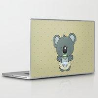 cartoons Laptop & iPad Skins featuring Baby koala by mangulica