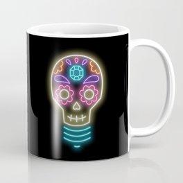 Neon sugar skull lightbulb Coffee Mug
