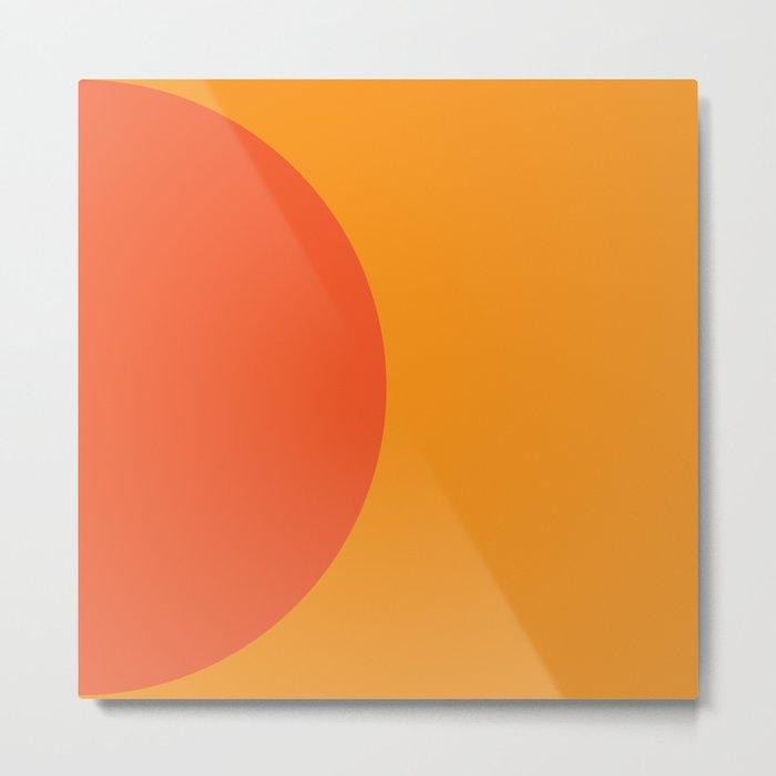 Orange Rising Metal Print