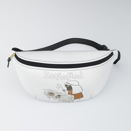 Christian Design - Good Shepherd and Satisfied Sheep. Psalm 23 Fanny Pack