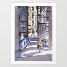 The Wanderer - Boston Art Print