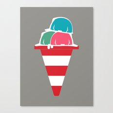 The ice cream construction zone Canvas Print