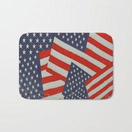 Patriotic Americana Flag Pattern Art #2 Bath Mat